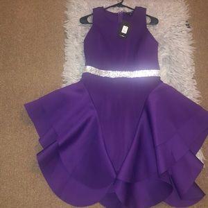 Fashion Nova. Purple diamond dress